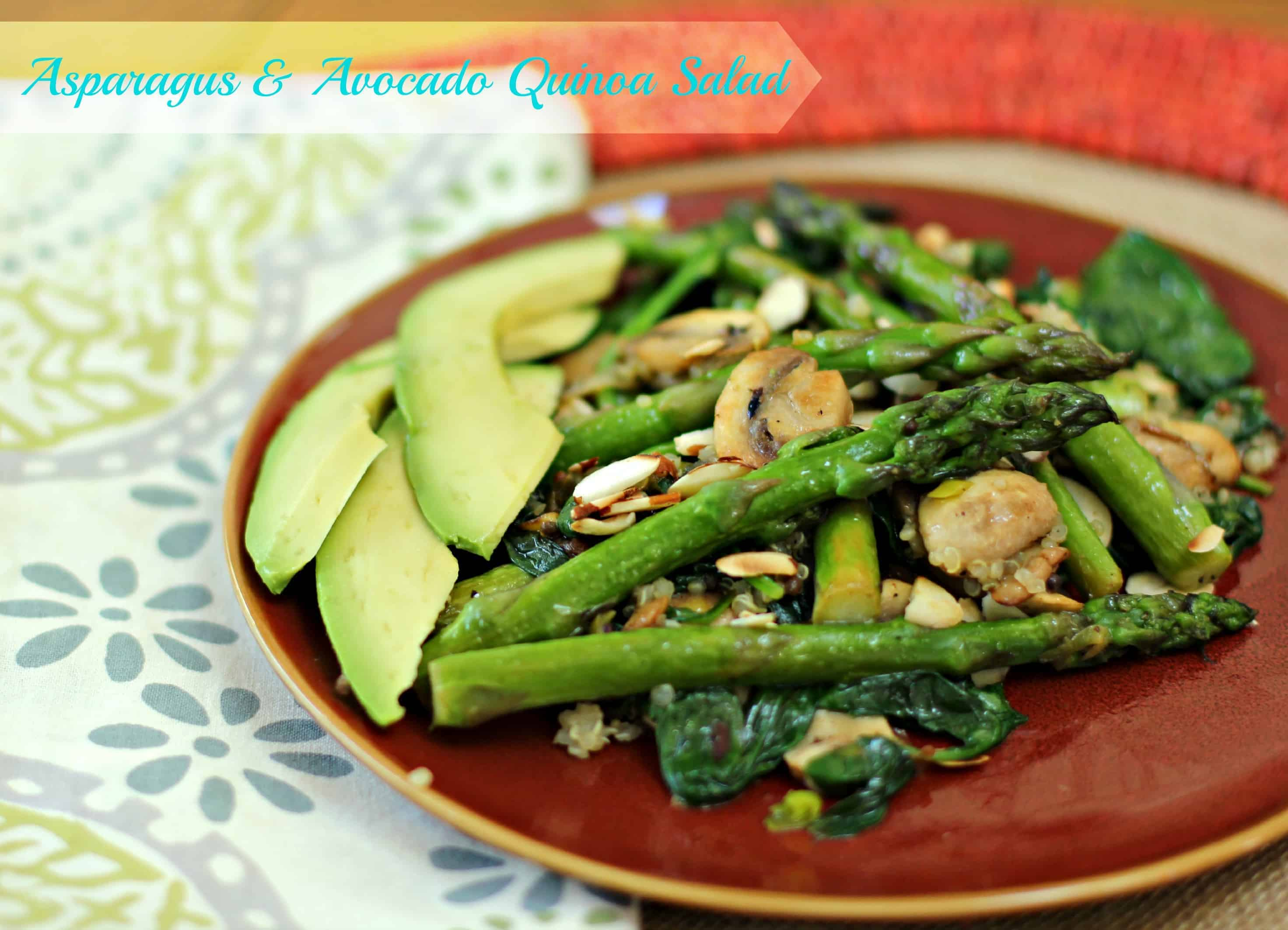 Asparagus & Avocado Quinoa Salad