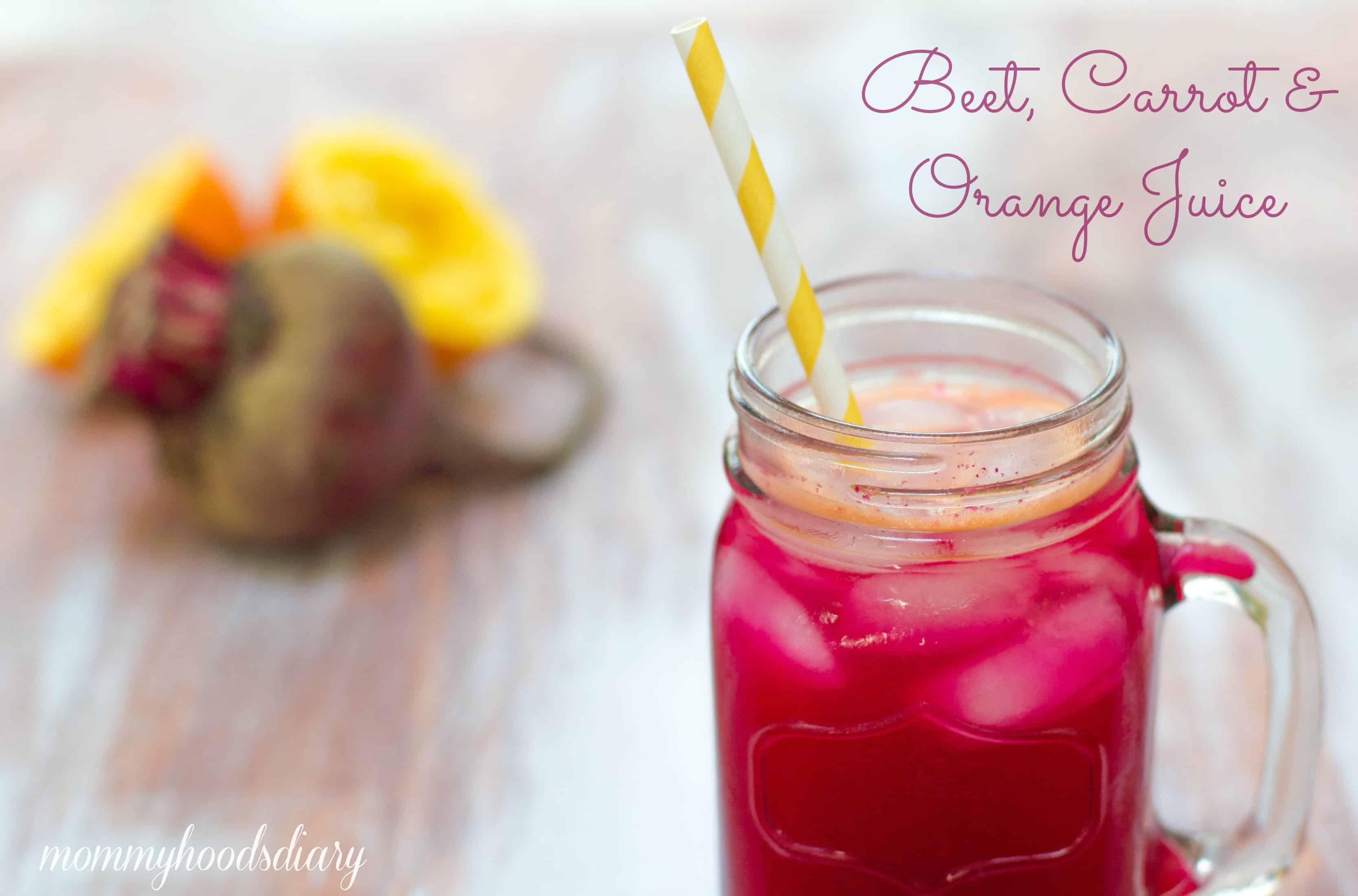 Beet, Carrot & Orange Juice