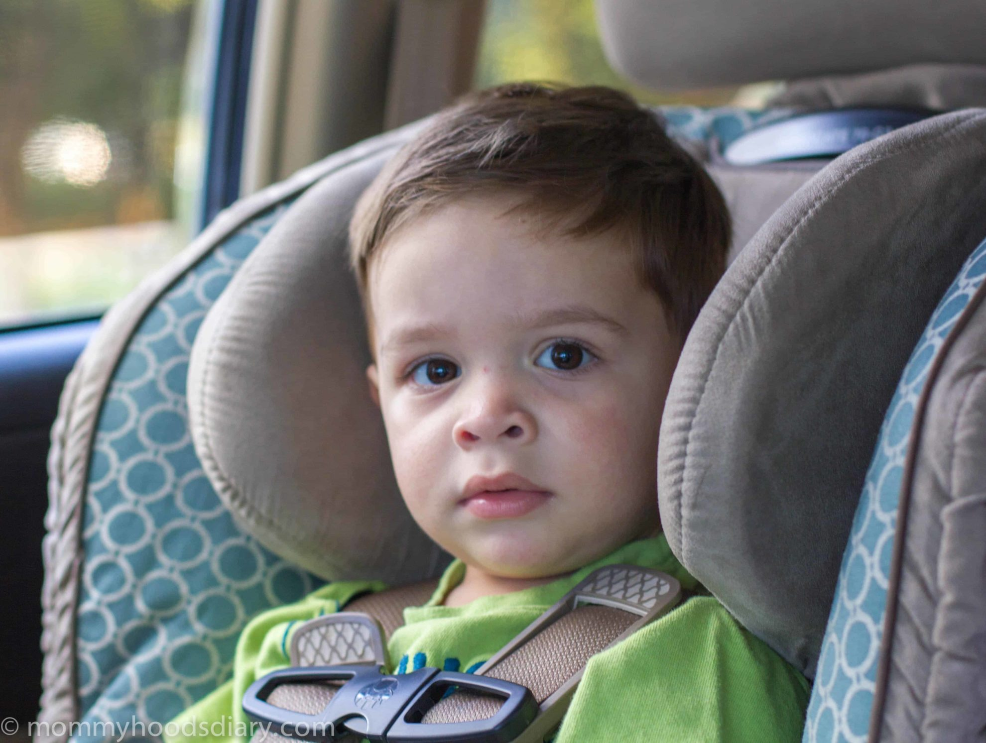 boy in a carseat