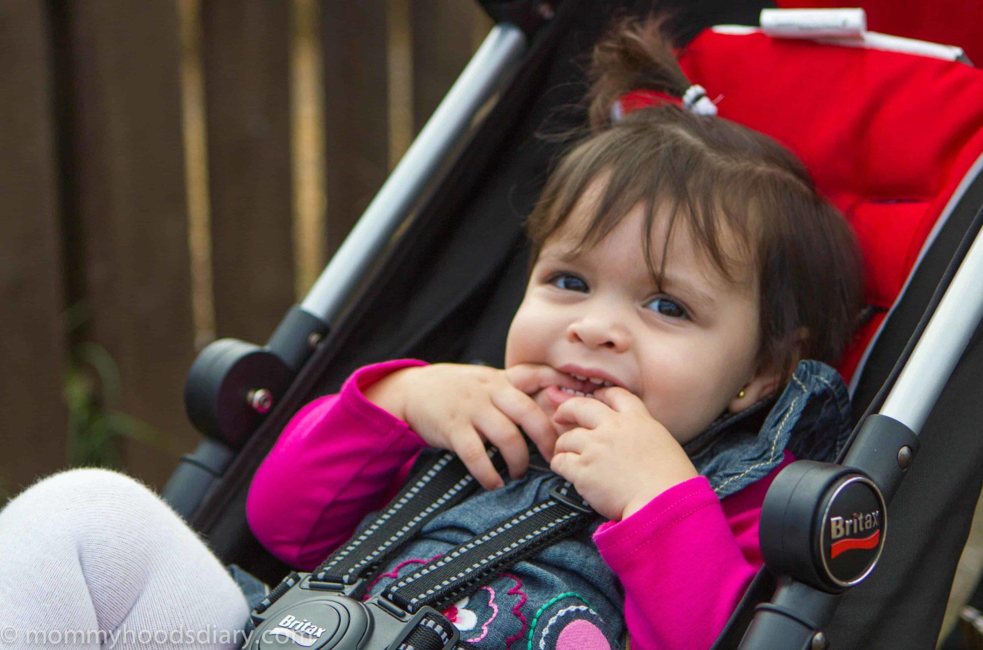 kid in a stroller