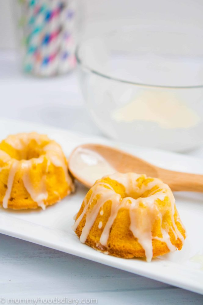 Pumpkin and Apple Mini Cakes served on a plate