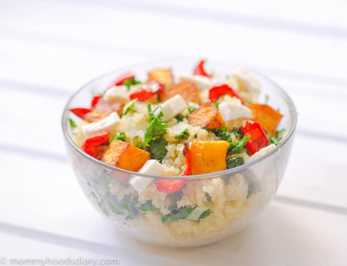 Pumpkin Quinoa Salad on a bowl