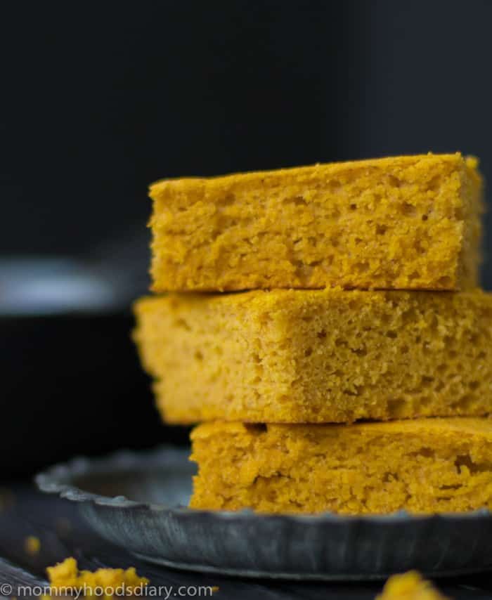 This Pumpkin Cornbread is a perfect match for fall soups and chilies! It's moist, tender, sweet. and super easy to make. Ready in 30 minutes. https://mommyshomecooking.com
