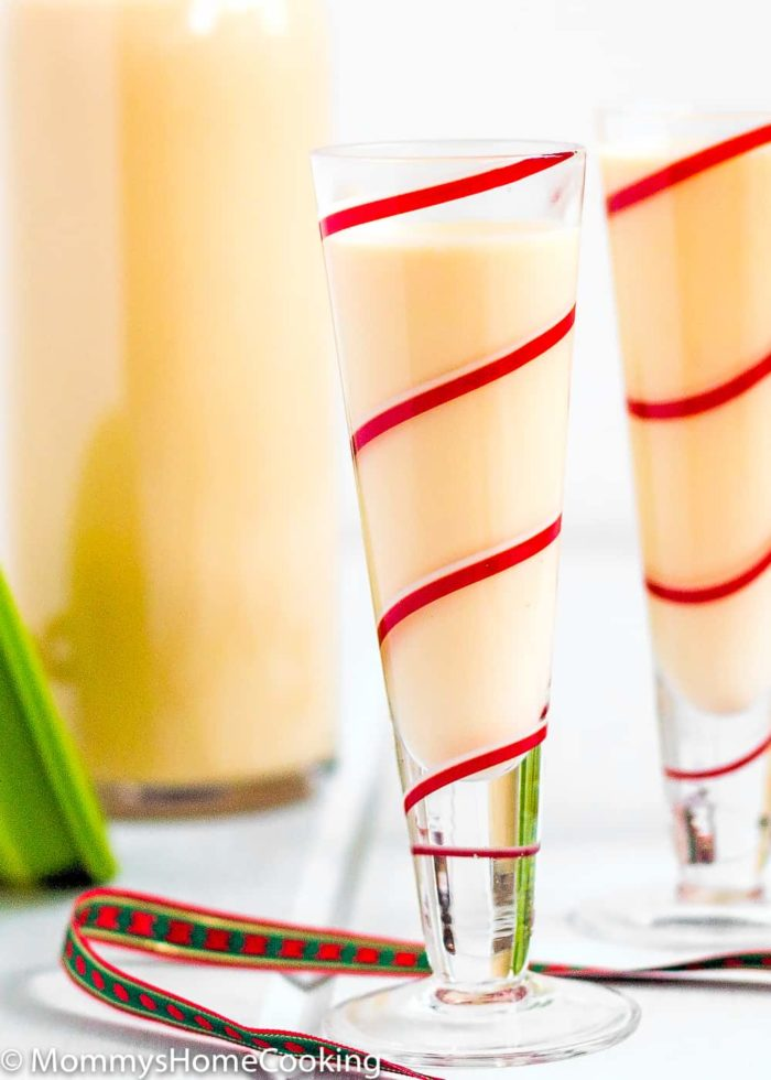 "Venezuelan Eggnog ""Ponche Crema"" is a delicious traditional holiday drink!! Skip the store-bought stuff and instead made your own Homemade Ponche Crema. Easy to make, easier to drink. Cheers!! https://mommyshomecooking.com"