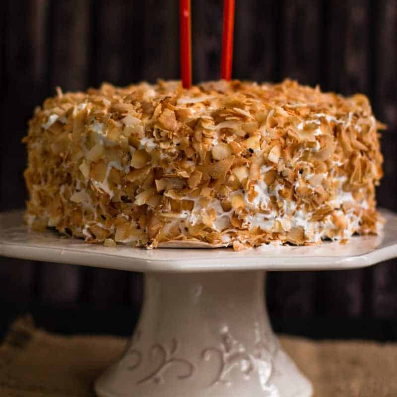 two layer coconut cake