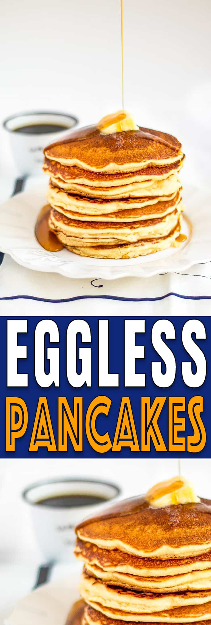 This eggless pancakes really do taste like the real thing! Fluffy, easy and delicious... definitely a breakfast winner! https://mommyshomecooking.com