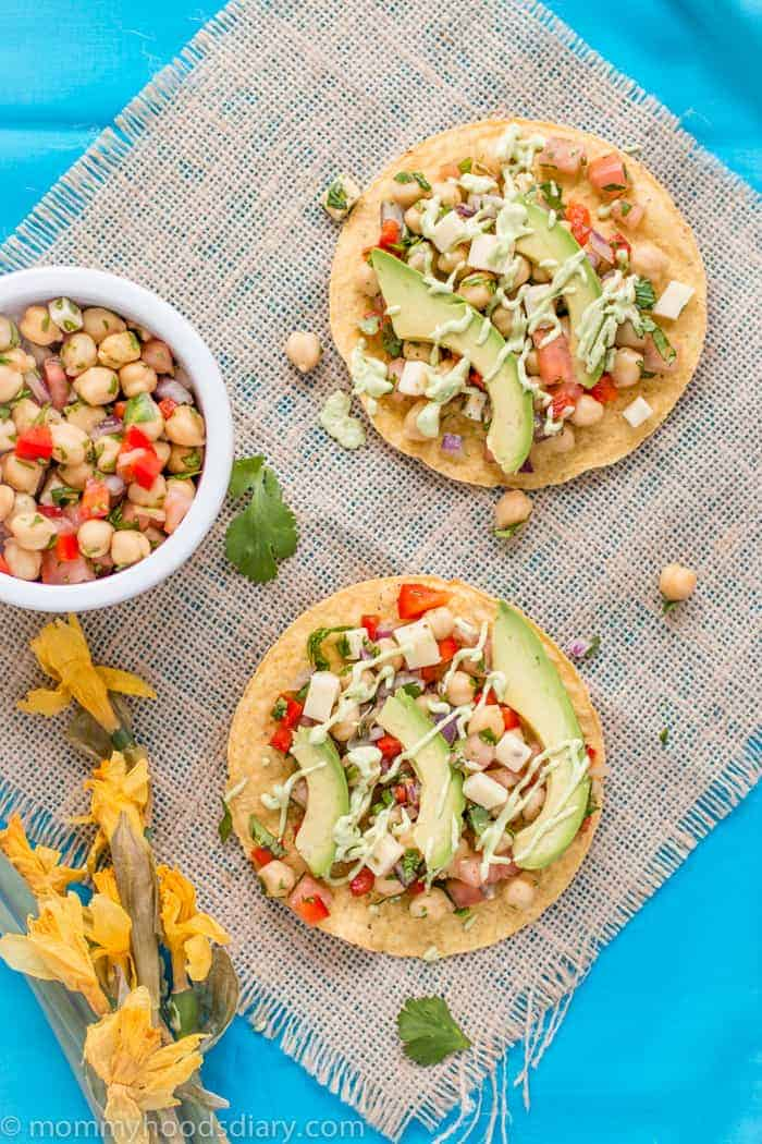 Chickpeas and Avocado Tostadas