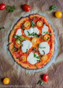 Cauliflower Pizza Crust - Egg Free