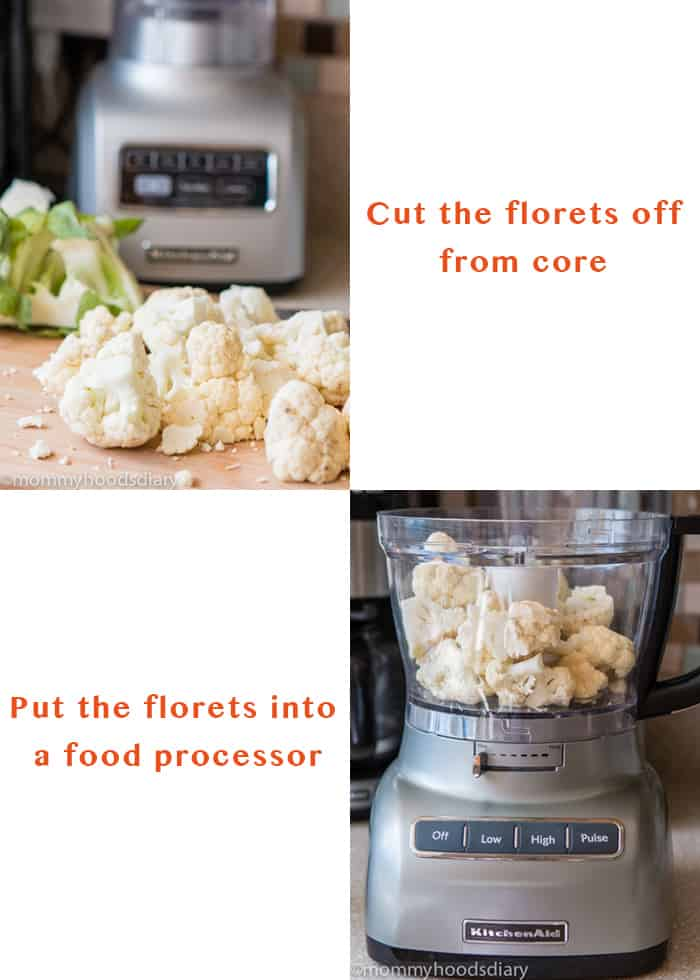 How to make cauliflower rice - Step by Step