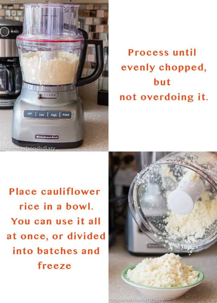 How to make cauliflower rice - Step by step 3