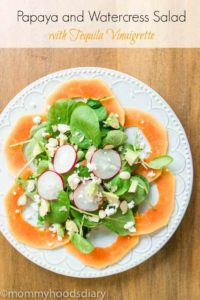 Papaya and Watercress Salad with Tequila Vinaigrette