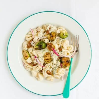 Brussels Sprout Pasta Salad