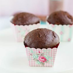 Chocolate Zucchini Cupcake | mommyshomecooking.com