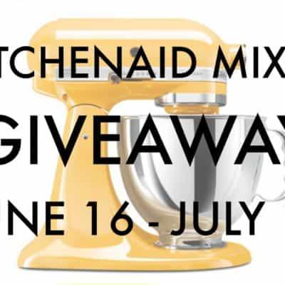 KitchenAid Artisan 5-Qt Stand Mixer Giveaway ($350 ARV)