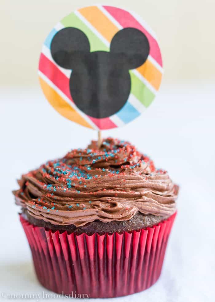 Mickey Chocolate Cupcake-1