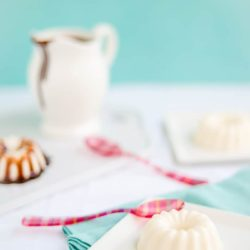 Coconut Panna Cotta with Chocolate Sauce | mommyshomecooking.com