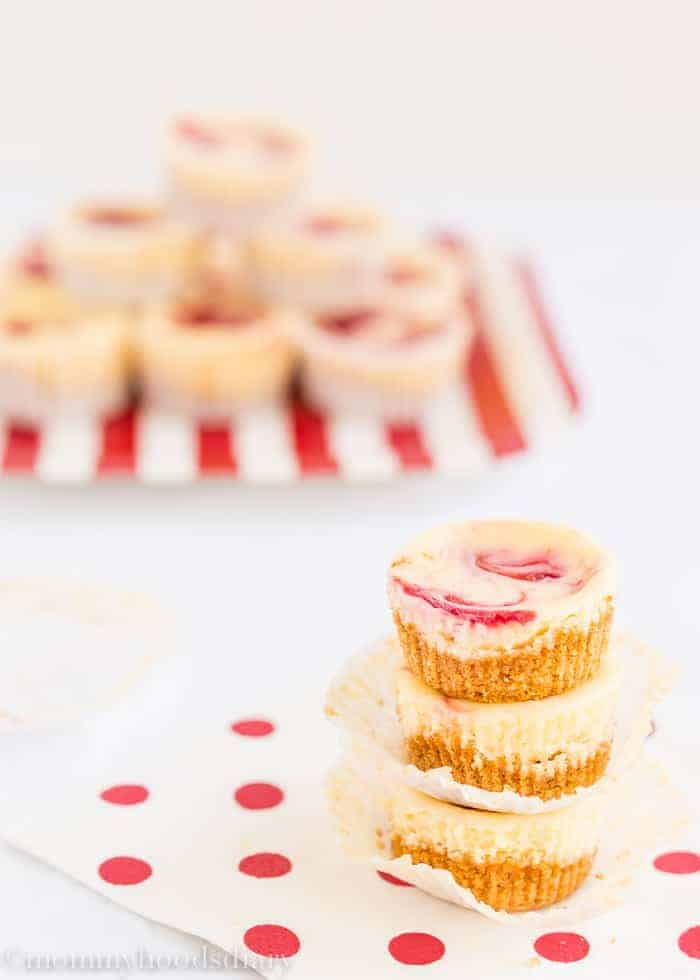 Mini Cheesecakes de Frambuesa