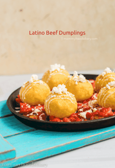 Latino Beef Dumplings | mommyshomecooking.com
