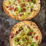 Pita Pizza with Brussels Sprouts and Bacon |mommyshomecooking.com