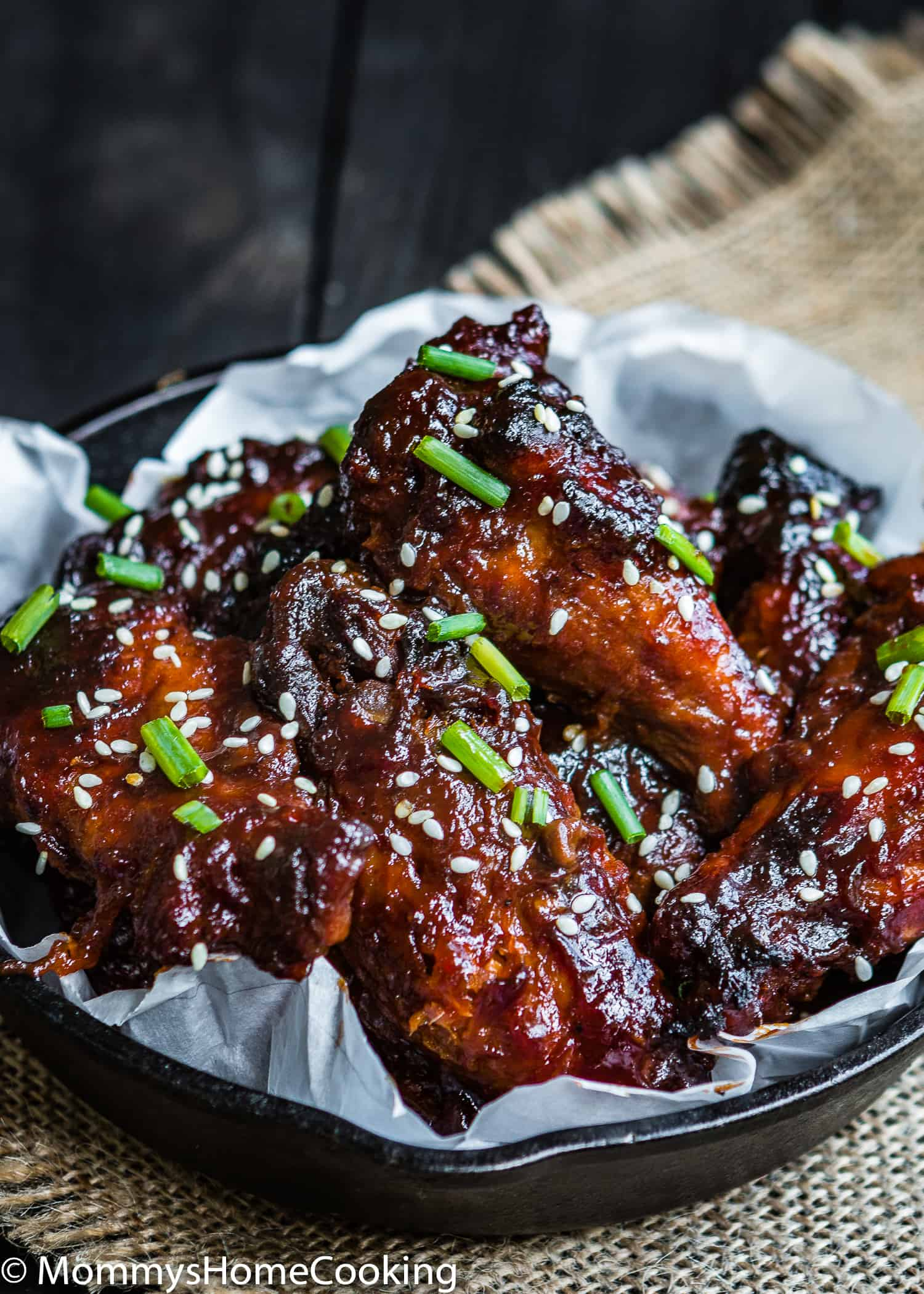 Damn... these Slow Cooker Pineapple Barbecue Chicken Wings are sooo good! They are smothered in a sweet spicy pineapple barbecue sauce and unbelievably easy to make. These make a fantastic appetizer or an easy game-day dish to share. https://mommyshomecooking.com