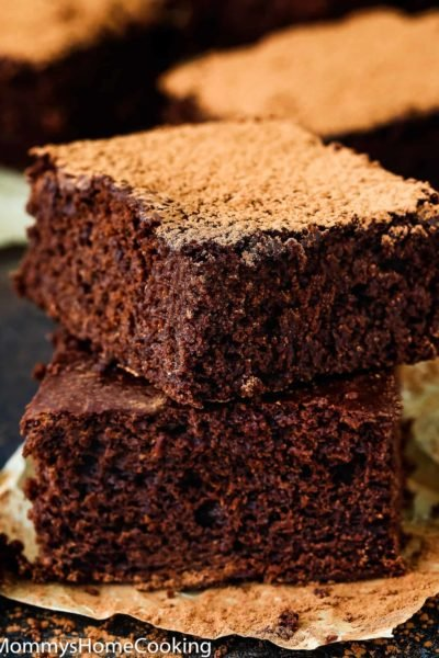 Best Eggless Fudgy Brownies