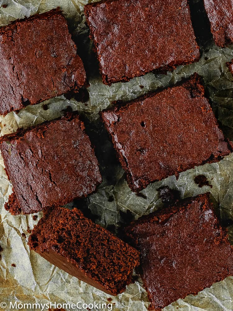 These EgglessFudgy Brownies are the most amazingly delicious, fudgy brownies ever! They're made completely from scratch with ingredients you probably have at home. Easy to make and easier to eat. https://mommyshomecooking.com