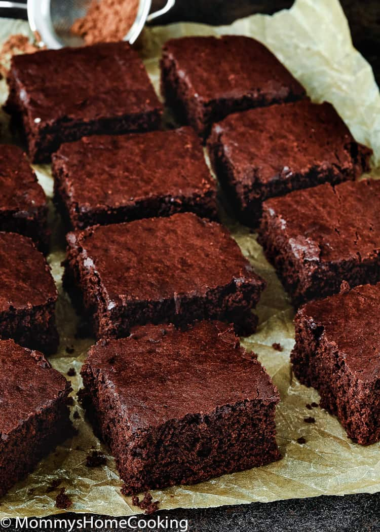 Best Eggless Fudgy Brownies - Mommy's Home Cooking