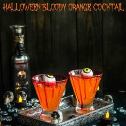Halloween Bloody Orange Cocktail | Mommy's Home Cooking