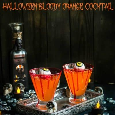 Halloween Bloody Orange Cocktail