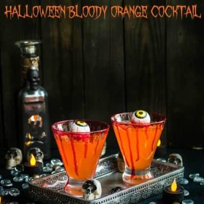 Halloween Bloody Orange Cocktail