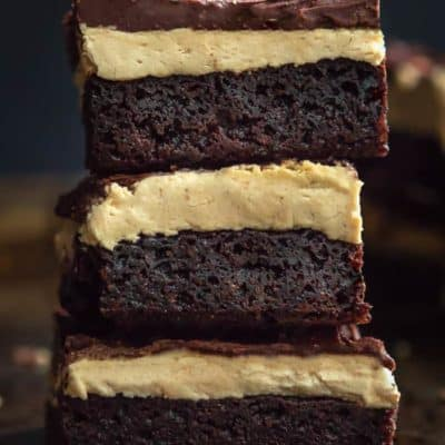 Gluten and Egg Free Three Layers Peanut Butter Brownies | Mommyhood's Diary