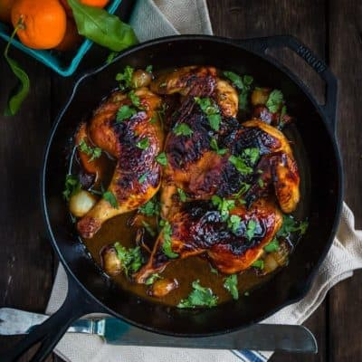 Honey Mandarin Roasted Chicken