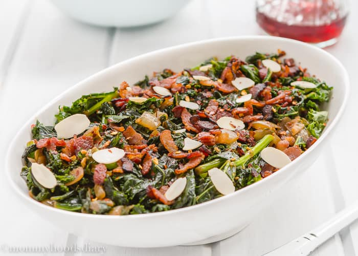 Kale, Bacon and Almonds -4