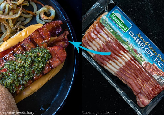 Bacon-Choripan-with-Chimichurri-Sauce-Collage