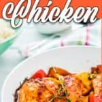 peri peri chicken in a skillet