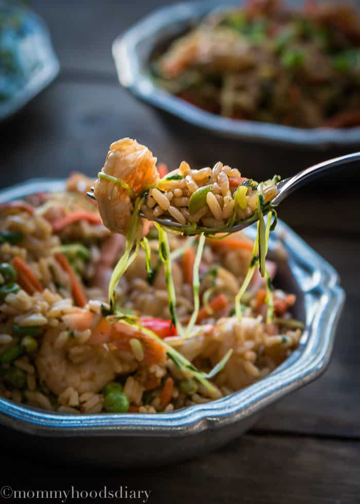 Shrimp and Bean Sprouts Fried Rice-10