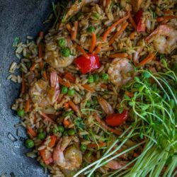 Shrimp and Sweet Peas Shoots Fried Rice | Mommyhood's Diary