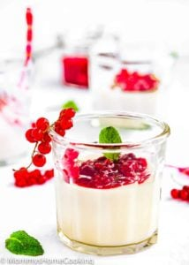 White Chocolate Panna Cotta in a glass