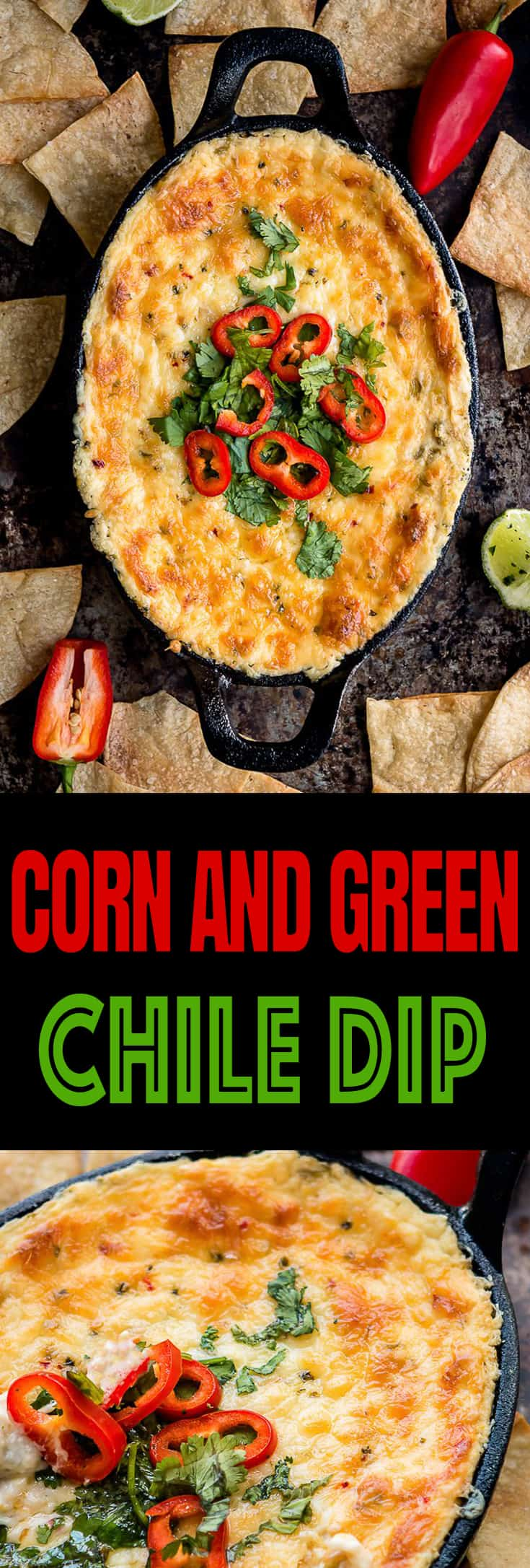 Corn and Green Chile Dip - A deliciously creamy, cheesy dip packed with lots of flavor! Everything you could ever want from a dip. Plus, It's VERY easy to make using only 4 ingredients. https://mommyshomecooking.com