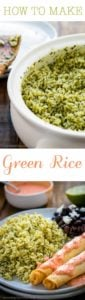 How to Make Green Rice | Mommyhood's Diary
