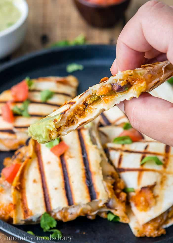 Cheesy Quinoa Quesadilla-5