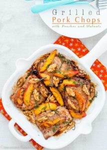 Grilled Pork Chops with Peaches and Walnuts | Mommyhood's Diary