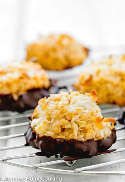 How to make Eggless Coconut Macaroons on a cooling rack