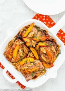Grilled Pork Chops with Peaches and Walnuts | Mommy's Home Cooking