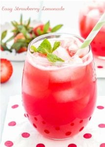 Easy Strawberry Lemonade | Mommyhood's Diary