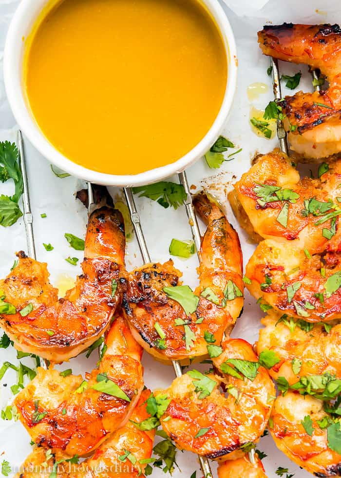 Miso Grilled Shrimp with Mustard Soy Sauce-4