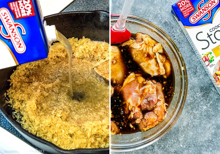 This One Pot Easy Thai Chicken with Rice dish comes together in an hour, feed a hungry little crowd, and require little cleanup later. It doesn't get any easier than this!! https://mommyshomecooking.com