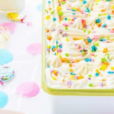 Eggless Confetti Cake