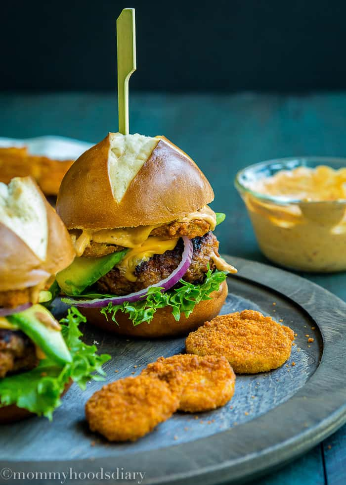 Pork Chorizo Sliders with Eggless Chipotle Mayo -6