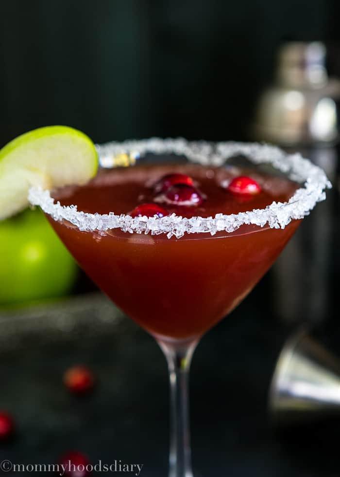 Apple Cranberry Caramel Cocktail-4